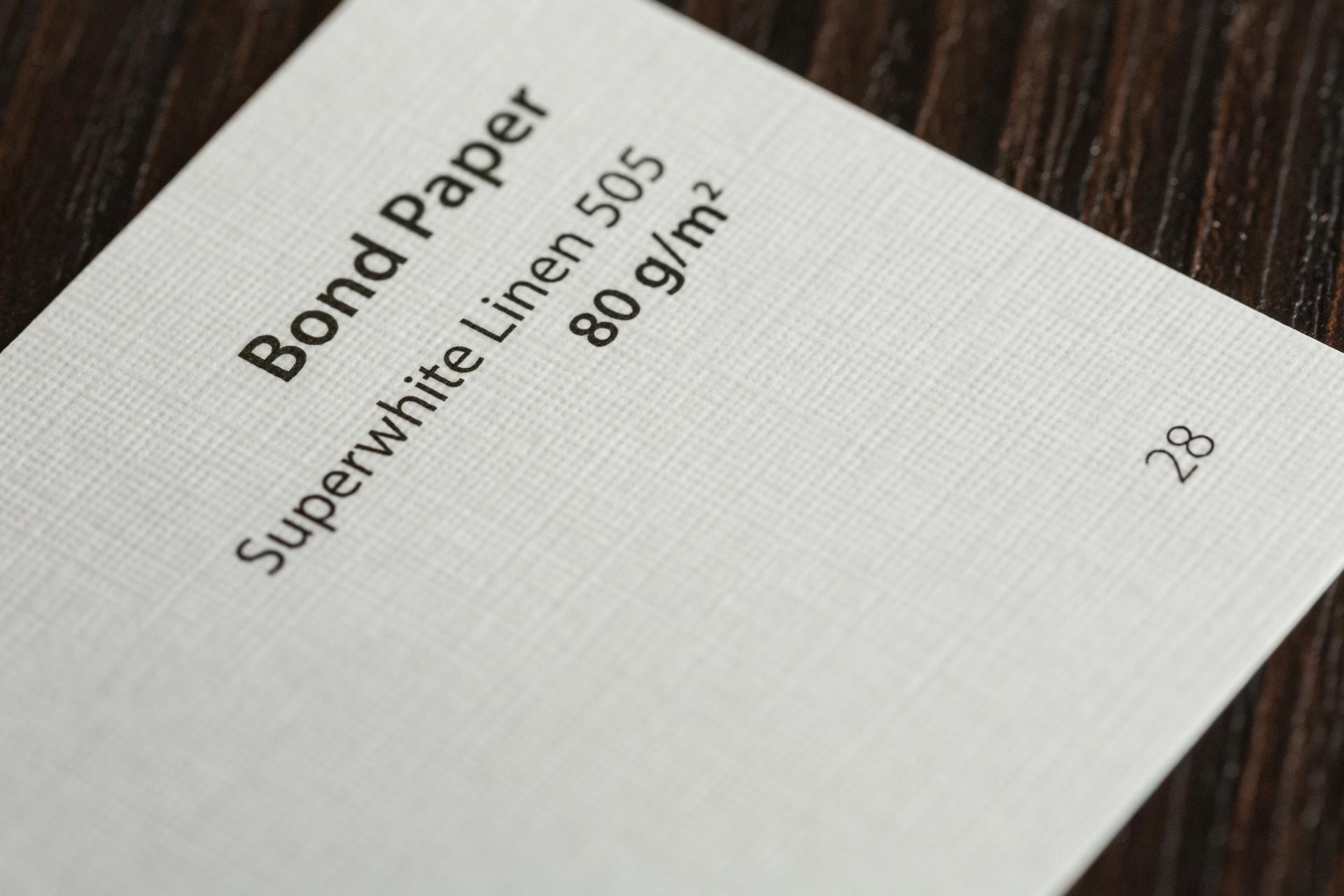 M Bond Paper SW