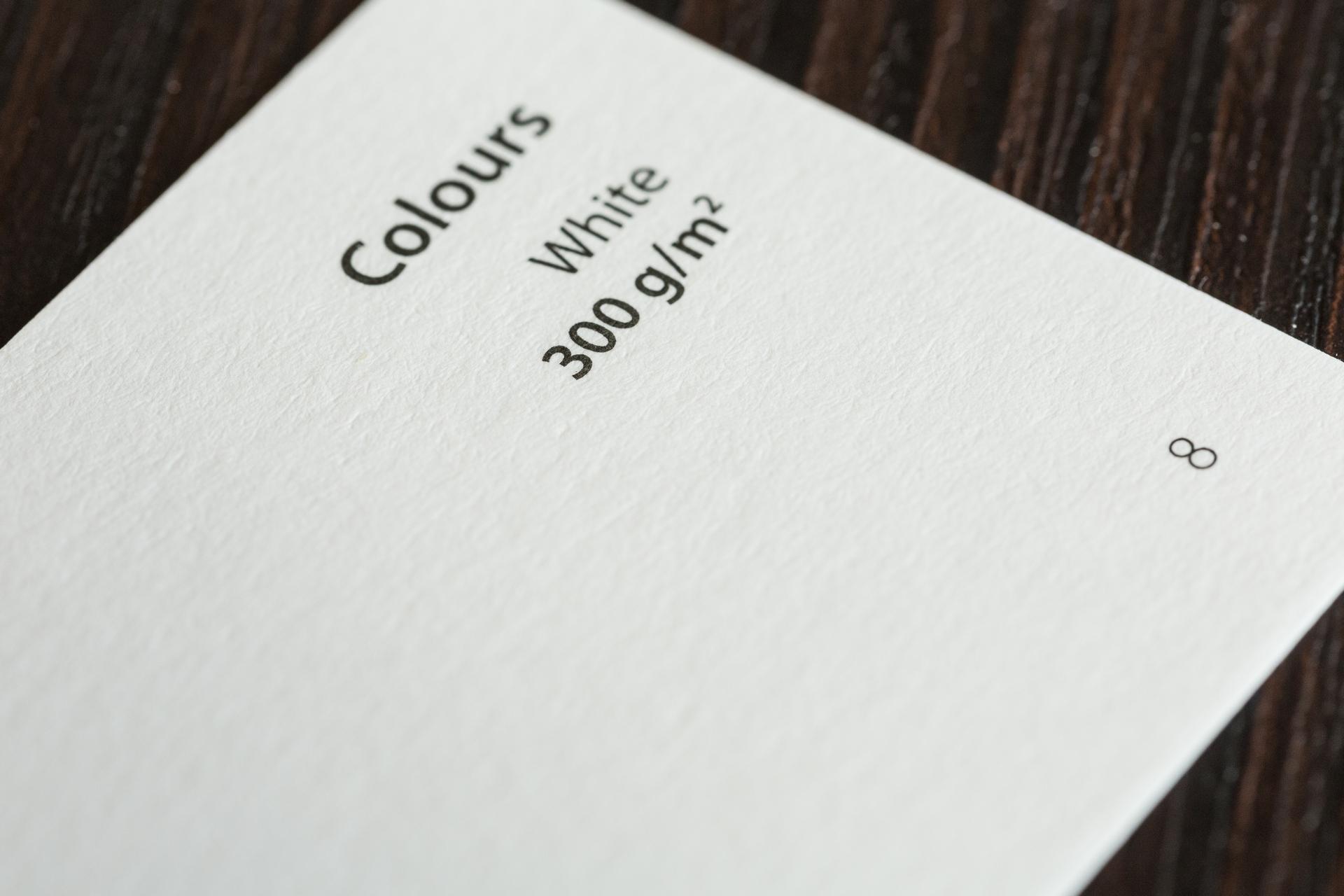 M Colours White